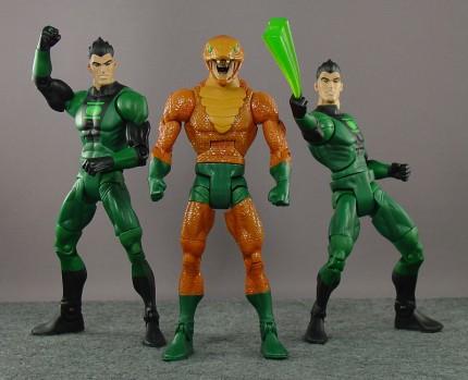 DC Universe Classics Copperhead; 2x Green Lantern Classics Sodam Yat