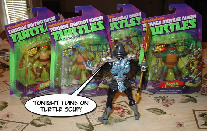 """Tonight I dine on TURTLE SOUP!"""