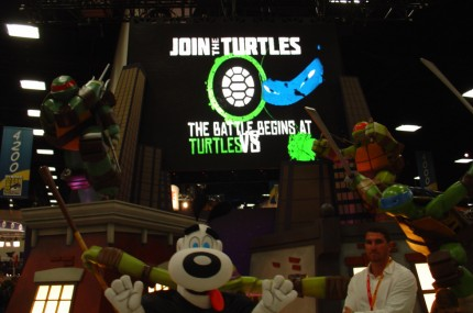 Nickelodeon's TMNT display!