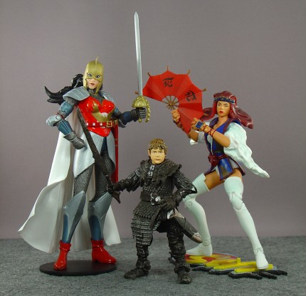 DC Direct Flashpoint Wonder Woman; Lord of the Rings Samwise in Goblin Armor; Shi Tomoe