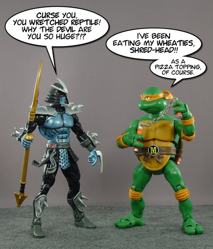 Classic Turtles are freakin' big.