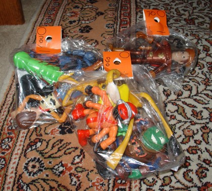 More bags of toys from the thrift store!