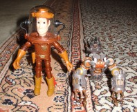 $0.70 buys... Sheriff Woody in a copper spacesuit and a legless Scorponok.