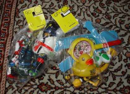 More bags of thrift store toys...