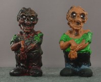 Custom painted zombie comparison