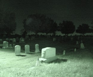 This wasn't part of the attraction -- the cemetery is adjacent to the church. Also, Barbra, they're coming to get you.