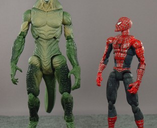 The Lizard towers above puny Spider-Man!
