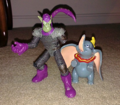 A one-armed Green Goblin and... Dumbo?