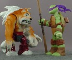 Alas, the toy Dogpound is shorter than Donatello (and the other Turtles).