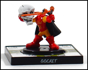 Socket does NOT shoot his entire head.
