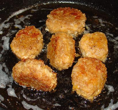 Fried oatmeal balls!