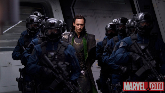 Loki (Tom Hiddleston) looking smug